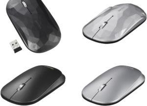 持ち運びに特化した、ビジネスパーソンのための無線3ボタンBlueLED薄型モバイルマウス